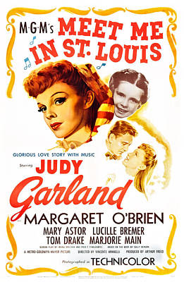 Ev-in Photograph - Meet Me In St. Louis, Judy Garland by Everett