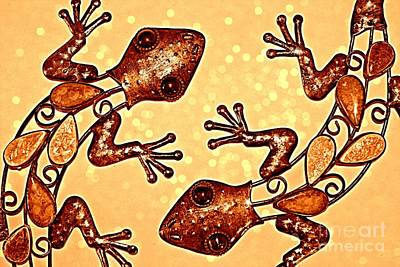 Meet The Geckos Art Print