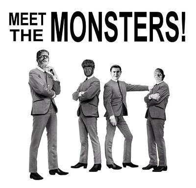 Universal Rock Digital Art - Meet The Monsters by Jack Joya