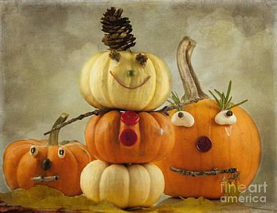 Meet The Pumpkins Art Print