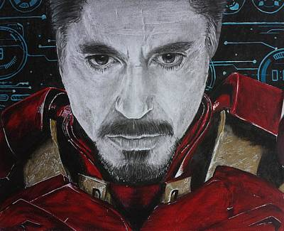Ironman Drawings Drawing - Meet Tony by S G Williams