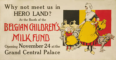 Benefit Photograph - Meet Us In Hero Land Poster by Underwood Archives