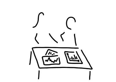 Forecast Drawing - Meeting Analyst Banker Manager by Lineamentum