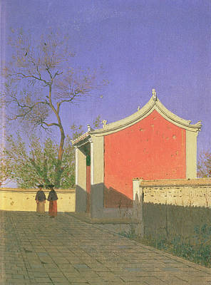 Kyrgyzstan Photograph - Meeting House Of The Solones, Ak-kent, 1869-70 Oil On Canvas by Vasili Vasilievich Vereshchagin