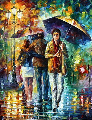 Meeting My Ex Art Print by Leonid Afremov