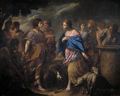 Rebecca Painting - Meeting Of Isaac And Rebecca by Andrea Vaccaro