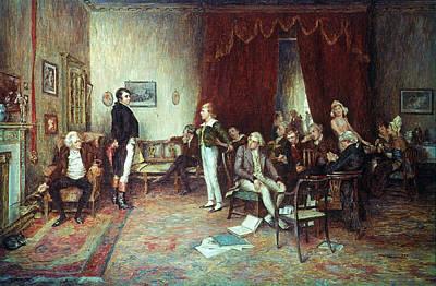 Novelist Painting - Meeting Of Scott & Burns by Granger