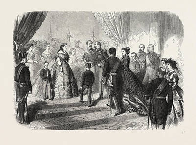 Meeting Of The French And Spanish Royal Families Art Print