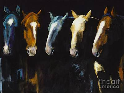 Herd Of Horses Painting - Meeting Of The Minds by Frances Marino