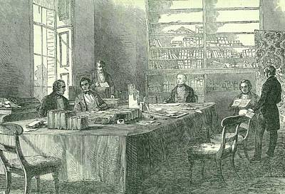Meeting Of The Uk General Board Of Health Art Print