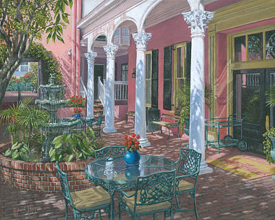 Oil For Sale Painting - Meeting Street Inn Charleston by Richard Harpum