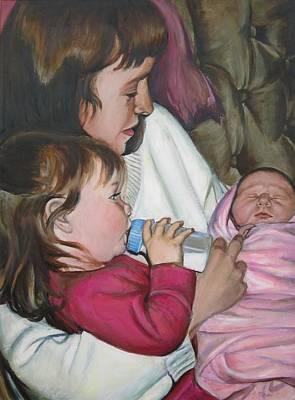 Ontario Portrait Artist Painting - Meeting Vanessa by Sheila Diemert