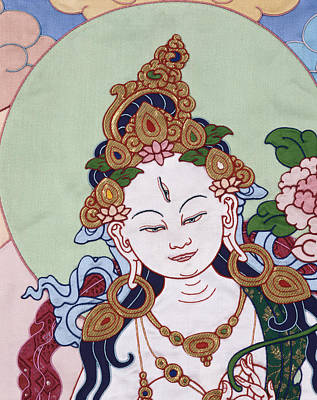 Meeting White Tara Art Print by Leslie Rinchen-Wongmo
