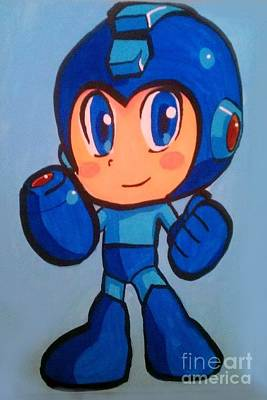 Art Print featuring the painting Mega Man by Marisela Mungia