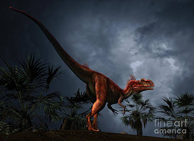 Megalosaurus Digital Art - Megalosaurus Was A Large Theropod by Philip Brownlow
