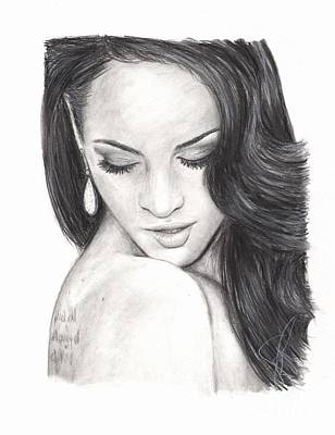 Drawing - Megan Fox by Rosalinda Markle