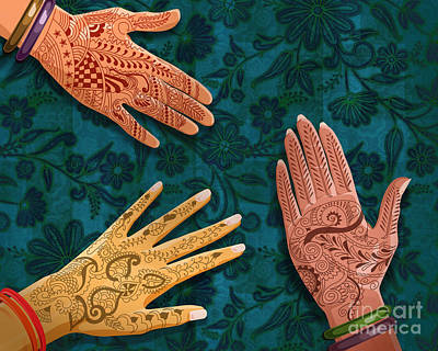 Hand Crafted Mixed Media - Mehndi by Bedros Awak