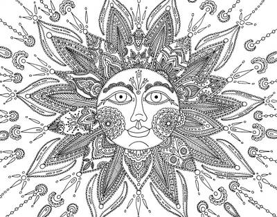Drawing - Mehndi Sun by Pamela Schiermeyer