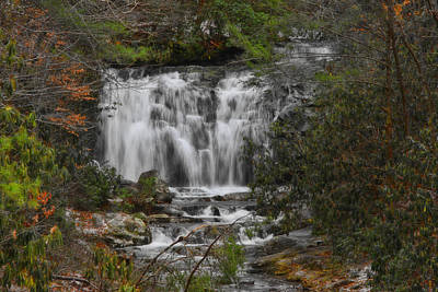 Photograph - Meigs Falls - Gsmnp by Shari Jardina
