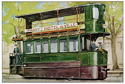 Mekarski System Tram Art Print