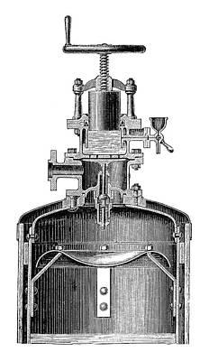 Mekarsky Compressed Air Engine Art Print