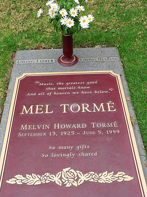 Photograph - Mel Torme Grave by Jeff Lowe