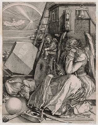 Melancholia Wall Art - Drawing - 'melancholia'          Date 1514 by Mary Evans Picture Library