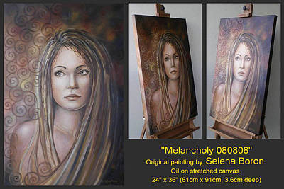 Art Print featuring the painting Melancholy 080808 Comp by Selena Boron