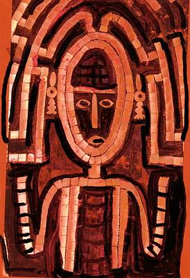 Melanesian Icon Art Print by Anne-Elizabeth Whiteway