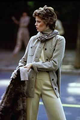 Photograph - Melanie Cain Wearing Kimberly Knitwear by Arthur Elgort