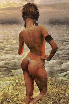 Girl Digital Art - Melanie Dorciahd H001000536 by S Lurk