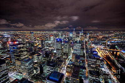 Photograph - Melbourne At Night V by Ray Warren