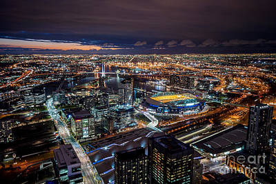 Photograph - Melbourne At Night Vii by Ray Warren