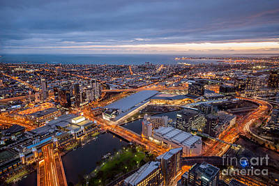 Photograph - Melbourne At Night Viii by Ray Warren