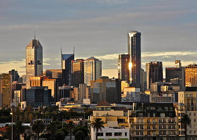 Photograph - Melbourne At Sunset by Kirsten Giving