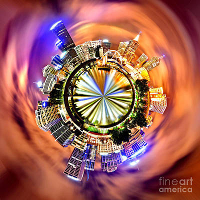Circular Photograph - Melbourne Central by Az Jackson
