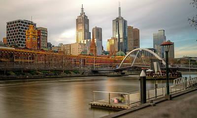 Melbourne City View From Southbank Pier Art Print by Mariusz Kluzniak