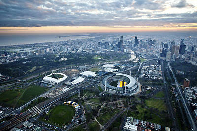 Photograph - Melbourne Park, Melbourne by Brett Price