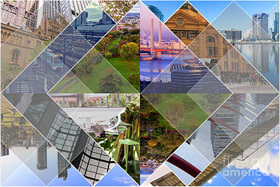 Photograph - Melbourne The Worlds Most Livable City Collage by Beverly Claire Kaiya