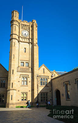 Photograph - Melbourne University Clock Tower - Melbourne - Australia by David Hill