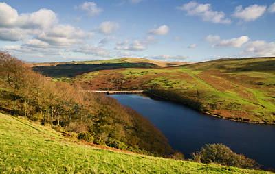 Meldon Reservoir On Dartmoor Art Print