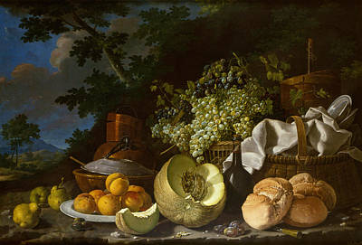 Outdoor Still Life Painting - Melendez Still Life, C1771 by Granger