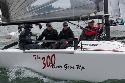 Penn Cove Photograph - Melges 24 Whidbey Island by Steven Lapkin