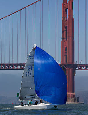 Sausalito Photograph - Melges At The Gate by Steven Lapkin