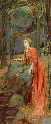 Literature Painting - Melisande by Henry Meynell Rheam