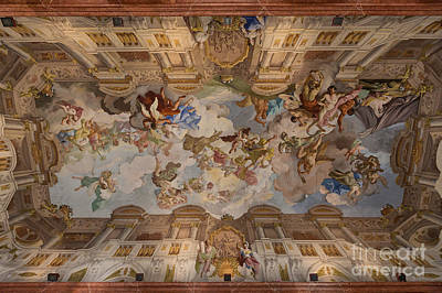 Cargo Boats Rights Managed Images - Melk Abbey- Marble Hall Ceiling Royalty-Free Image by Rhonda Krause
