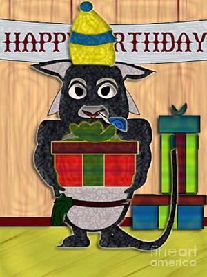 Digital Art - M'elk Happy Birthday 1 by NightVisions