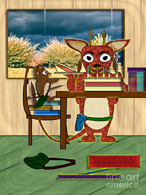 Digital Art - M'elk Happy Birthday 2 by NightVisions