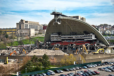 Mellon Arena Partially Deconstructed Art Print by Amy Cicconi