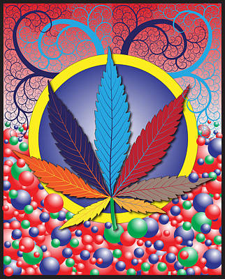 Weed Digital Art - Mellow by John Crothers